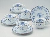 【NARUMI】ナルミ ペレーネブルー5客碗皿 40721-32403