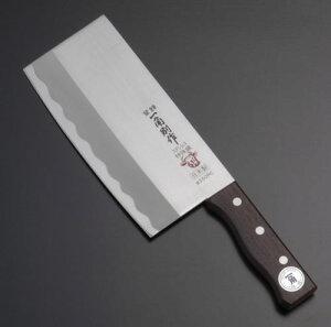 肉・魚や、大根・カボチャなどの大型野菜にも使える中華包丁の万能タイプステンレス中華包丁18c...