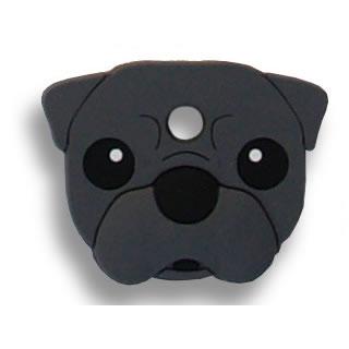 【メール便OK】フィールドポイント ドッグキーカバー パグ ブラック