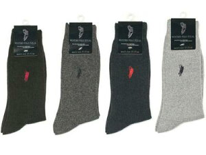 POLO 6足組 ポロ メンズ カジュアルソックス ブランド 靴下 セット メンズソックス 6足セット リブソックス 25〜27cm クルー丈 綿混 紳士 送料無料 まとめ買い
