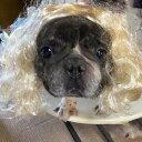 犬猫用 カツラ かつら ウィッグ 女の子用 (金髪) キャップ 帽子変身 かぶりもの ヘアアクセサリー 犬屋 新商品 その1