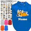 犬 服 名前入れ 中型犬 大型犬 Tシャツ くたいぬデザイン 3L〜7L 春夏 犬屋