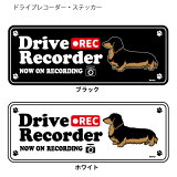 ドライブレコーダー ステッカー セット ダックスフンド 黒色 ドッグシルエット 犬 ドラレコ シール ドッグシルエット 犬屋 いぬや 新商品