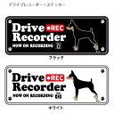 【横向き】 ドッグシルエット ドライブレコーダー ステッカー ミニチュアピンシャー 3枚入1セット 犬 ドラレコ シール 犬屋 いぬや