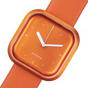 【ポイント5倍】(〜1/31) ピーオーエス POS ヒュッゲ バリ Vari Line クオーツ 腕時計 HGE020069 オレンジ メンズ