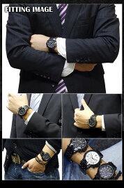 サルバトーレマーラクオーツメンズクロノ腕時計SM8005-IPBKBK