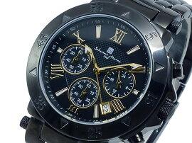 サルバトーレマーラクオーツメンズクロノ腕時計SM8005-IPBKGD