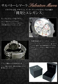 サルバトーレマーラSALVATOREMARRAクロノグラフ腕時計SM8005-WHCL