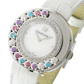 スワロフスキーSWAROVSKIラブリークリスタルズクオーツ腕時計5183955ホワイトシェルレディース
