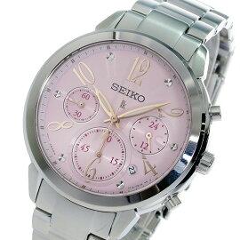 セイコーSEIKOクロノグラフルキアクオーツ腕時計SRW829P1ピンクレディース