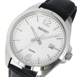 セイコーSEIKOクオーツ腕時計SUR213P1ホワイトメンズ