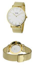 クルースCLUSEラ・ボエームメッシュベルト38mm腕時計CL18109ホワイト/ゴールドレディース