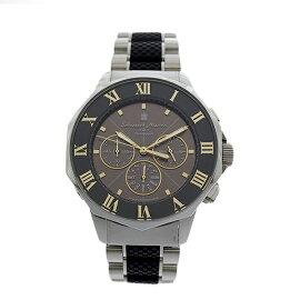 サルバトーレマーラSALVATOREMARRA電波ソーラークロノグラフクオーツ腕時計SM16110-SSBKGDゴールド/シルバーメンズ