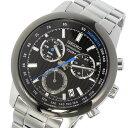 セイコー SEIKO クロノグラフ クオーツ 腕時計 SSB217P1 ブラック メンズ