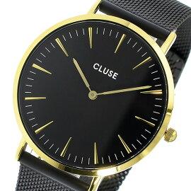クルースCLUSEラ・ボエームメッシュベルト38mmレディース腕時計CL18117ブラック/ブラックレディース