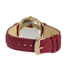 キャプテン&サンKAPTEN&SON36mmホワイト/ボルドーキャンバス腕時計GD-KS36WHBCレディース