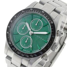トモラTOMORATOKYOクオーツクロノグラフ腕時計T-1604-SSGRグリーンメンズ