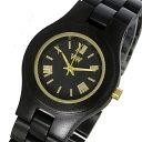 【ポイント5倍】(〜3/31) ウィーウッド WEWOOD 木製 CRISS BLACK GOLD クリス 腕時計 9818105 ブラック 国内正規 レディース