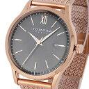【ポイント10倍】(〜1/31) トモラ TOMORA TOKYO メッシュベルト クオーツ 腕時計 T-1605SS-PGY グレー メンズ