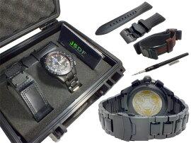 ケンテックスKENTEXJSDFトライフォースSPソーラーメンズクロノ腕時計S720M-01