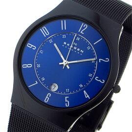 スカーゲンSKAGENウルトラスリムチタン腕時計T233XLTMNブルーメンズ