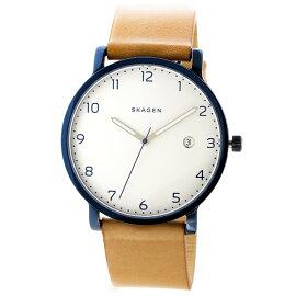 スカーゲンSKAGENハーゲンHAGENクオーツ腕時計SKW6325ホワイト/ライトブラウンメンズ
