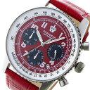 【今月特価】【ポイント5倍】(〜6/30) グランドール GRANDEUR 日本製 made in japan クロノグラフ クオーツ 腕時計 JOSC028W2 レッド メンズ