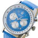【今月特価】【ポイント5倍】(〜8/31) グランドール GRANDEUR 日本製 made in japan クロノグラフ クオーツ 腕時計 JOSC028W5 ブルー メンズ