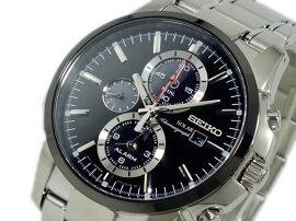 セイコーSEIKOソーラーSOLARクロノグラフ腕時計SSC087P1メンズ