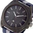 【ポイント2倍】(〜6/27 09:59) ウィーウッド WEWOOD PHOENIX 46 TEAK BLUE クオーツ 腕時計 9818140 グレー 国内正規 メンズ
