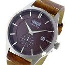 【ポイント2倍】(〜6/27 09:59) フォンデリア FONDERIA STREAMLINER クオーツ 腕時計 P-6A009UR1 ブラウン 9828018 メンズ