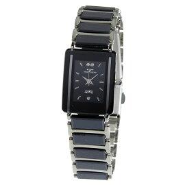 テクノスTECHNOSクオーツ腕時計TSL906TBブラックレディース