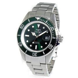 テクノスTECHNOSクオーツ腕時計TSM402SMグリーンメンズ