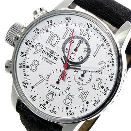 インヴィクタINVICTAクロノグラフクオーツ腕時計1514ホワイトメンズ