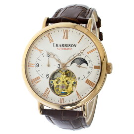 ジョンハリソンJOHNHARRISON自動巻き腕時計JH-039PWホワイトメンズ