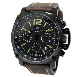 サルバトーレマーラSALVATOREMARRAクロノグラフクオーツ腕時計SM15105-BKGRグリーンメンズ