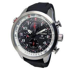 セイコーSEIKOプロスペックスクロノグラフソーラー腕時計SSC351P1ブラックメンズ