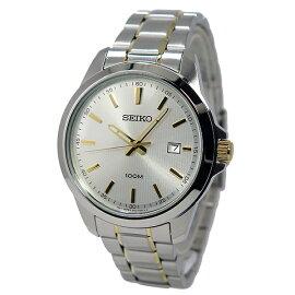 セイコーSEIKOクオーツ腕時計SUR157P1シルバー/ゴールドメンズ