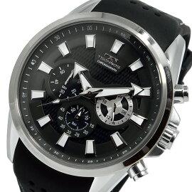 テクノスTECHNOSクオーツクロノグラフ腕時計T6396SBブラックメンズ