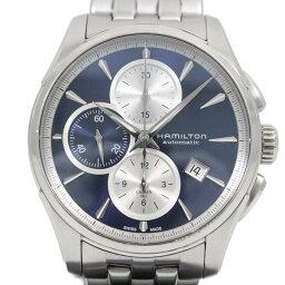 【中古】ハミルトン ジャズマスター オートクロノ 自動巻き メンズ 腕時計 青文字盤 H325960 交換用革ベルト付【いおき質店】