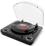 【公式 / 送料無料】ION Audio レコードプレーヤー USB・ヘッドフォン端子付き スピーカー内蔵 ピアノブラック Max LP Black
