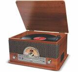 10%OFF!【公式 / 送料無料】ION Audio レトロ調 ミュージックプレーヤー 7種再生【レコード、カセット、CD、ラジオ、USB、Bluetooth、外部入力】 Superior LP