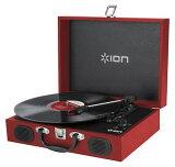 【公式 / 送料無料】ION Audio スピーカー内蔵 スーツケース型レコードプレーヤー Vinyl Transport レッド