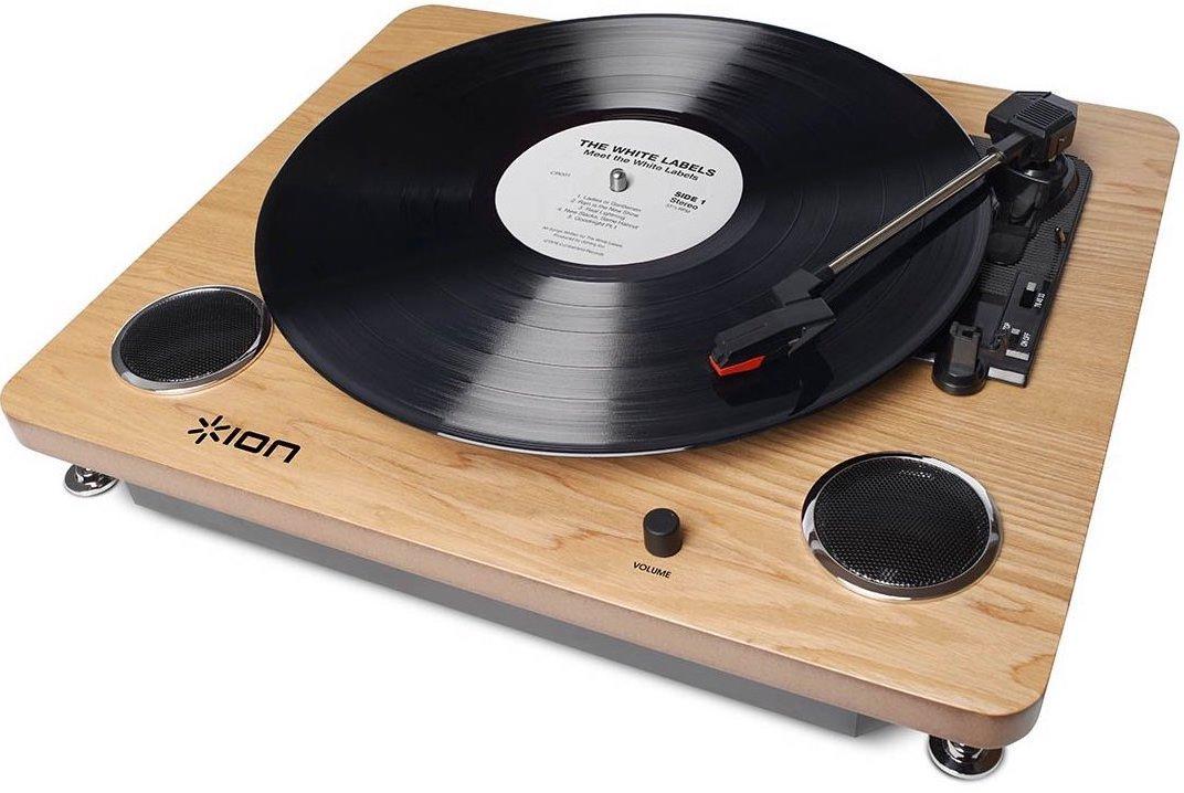 【公式 / 送料無料】ION Audio レコードプレーヤー USB端子 スピーカー内蔵 天然木 Archive LP