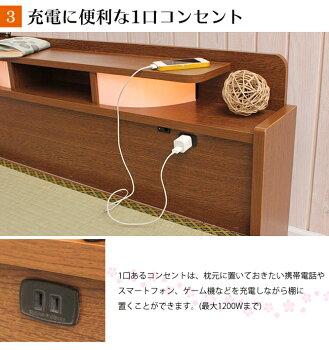 畳ベッドシングル引き出し付きベッドクッションマット畳タイプ棚付き照明付き宮付きコンセント付きたたみベッドタタミ収納付きベッドすのこ畳ベッド畳ベット日本製収納ベッド木製シングルベッド