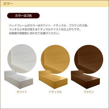 選べる収納ベッドシングルハイタイプ3分割オープン棚1OP+1OP+1OPヘッドレスボンネルコイルマットレス付木製