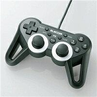 USBゲームパッド/PS3ゲーム用/12ボタン/振動/連射/高耐久/ブラック エレコム JC-GMU3312SPBK 【05P12Jun12】