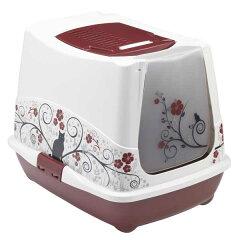 ベルギー製のネコトイレ専用スコップフィルターつきトレンディキャット キャット&フラワー ...