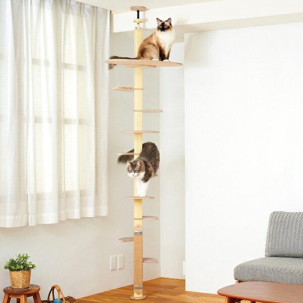 OFT キャットバンテージプラスVer2 猫ねこ爪とぎ大型木製ポールキャットタワーおしゃれシンプルスリムおすすめ人気突っ張りつ