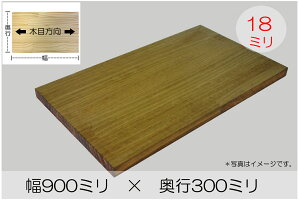 BRIWAX塗装済みパイン棚板(約)厚み18x幅900x奥行300mm【DIY】オーダーカット無料